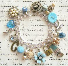 Charm Bracelet in Blue
