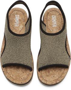 Camper Oruga Green Sandals Women K200360-001