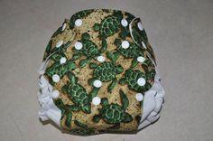 Turtley Cute One Size Pocket Diaper. $20.00, via Etsy.