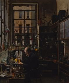 Henry Alexander - In the Laboratory [c.1885-87] | Flickr - Photo Sharing!