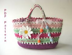 Crochet Bag Purse Girls by Mari Martin | Crocheting Pattern - Looking for your next project? You're going to love Crochet Bag Purse Girls by designer Mari Martin. - via @Craftsy