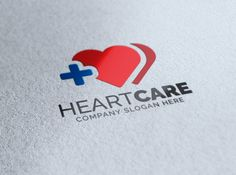 Heart Care Logo by eSSeGraphic on Creative Market