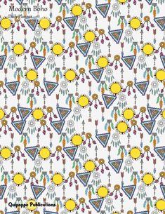 "Modern Boho Daily Planner Daily Spread 3 Months 90  Days Calendar Organizer Appointment Book To Do List, Modern Boho Sun and Dreamcatchers Pattern DP85Undated Cover, 8.5x11"" #planners #dailyplanners #dailyplannersundated #contemporarystyles #boho"