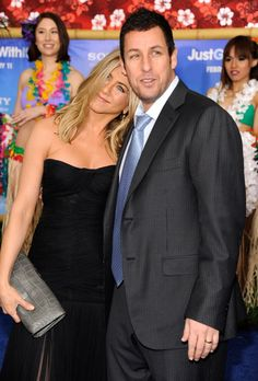 Pin for Later: Birthday Girl Jennifer Aniston's Got More Famous Friends Than We Can Count  Jen shared a sweet moment with Adam Sandler at the NYC premiere of Just Go With It in February 2011.