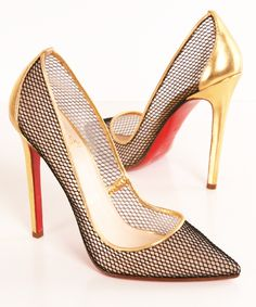 I. need. these. Fishnet Pumps / Christian Louboutin