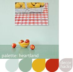 Love the blue and yellow in this Heartland palette