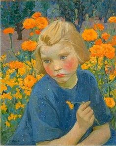 """Mary Bell Eastlake, (1864-1951). """"Blue and Gold"""", 1920."""