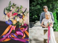 Cowley Manor Cotswolds wedding venue with a 'Constance' LouLou bridal gown and colourful bouquet by Eve Dunlop Photography. Country Wedding Flowers, Cool Countries, Wild Flowers, Bridal Gowns, Wedding Venues, Bouquet, Table Decorations, Weddings, Photography