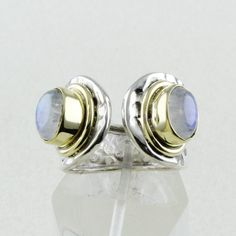 Rainbow Moon Stone Quality Design Handmade 925 Sterling Silver Ring __Adjustable Size by JaipurSilverIndia on Etsy