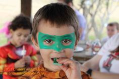 Super Hero Face Painting