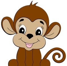 Cute Monkey   Clipart is credited to Colorful Cliparts