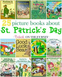 Celebrate St. Patrick's Day with this collection of fun books featuring leprechauns, pots of gold, clovers, and St. Patrick. Great for all ages!   embarkonthejourney.com