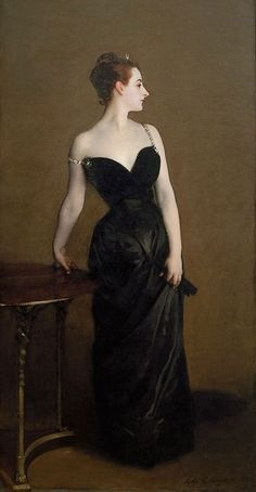 "John Singer Sargent's ""Madame X"" as it might have originally been painted. This painting ruined the reputation of its subject."