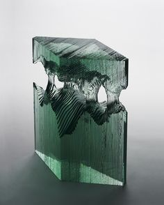 Sheets of Glass Cut and Layered to Form Stunning Sculptures of Ocean Waves - My Modern Met