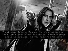 Harry Potter Challenge : Snape - Good guy who did bad.
