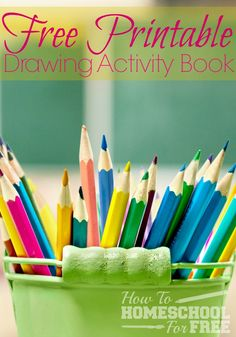 Check out this FREE How To Draw activity book for kids!