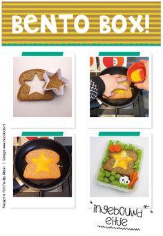 We krijgen vaak reacties op onze omeletbroodjes, dus gaan we je vertellen hoe je ze kunt maken. Het is niet moeilijker, dan het bakken van een ei, maar hier volgen toch een paar tips: Nodig: bruine of volkoren boterham (wit kan ook, maar bruinbrood geef