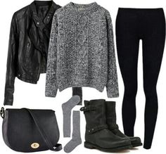 Comfy, edgy outfit^^