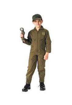 $39.99 Ultra Force Jr GI Kids OD Flightsuit| http://camouflage.ca