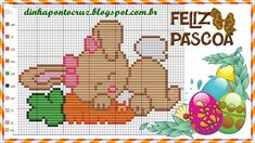Cross Stitch Charts, Cross Stitch Patterns, Chinese Zodiac Rabbit, Crochet Baby Mobiles, Easter Cross, Charts And Graphs, Cross Stitch Animals, Stuffed Animal Patterns, Animals For Kids