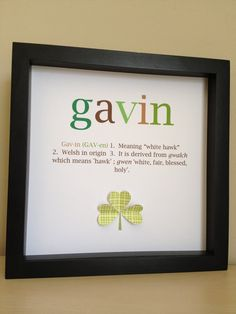 Name Meaning Art 3D Paper Art Customize with your by PaperLine, $35.00