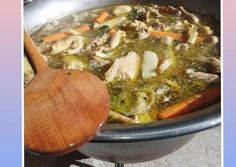 Csirke leves bográcsban   Zolnai Böby receptje - Cookpad receptek