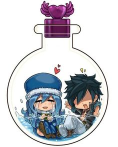 Gruvia in a bottle <3