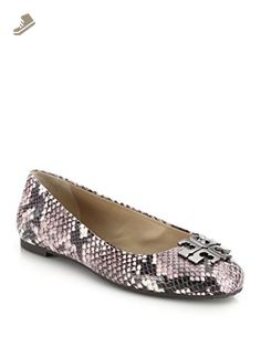 Lowell 2 Python Embossed Leather Ballet Flats Size 7.5 - Tory burch flats for women (*Amazon Partner-Link)