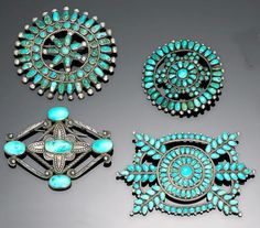 Bonhams Fine Art Auctioneers & Valuers: auctioneers of art, pictures, collectables and motor cars Turquoise Rings, Vintage Turquoise, Coral Turquoise, Jewelry Art, Silver Jewelry, Zuni Jewelry, Silver Rings, Jewellery, Cowgirl Bling