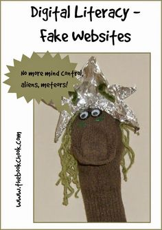 The Book Chook: Digital Literacy - Fake Websites - explore fake websites with kids and create one of your own!