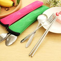 Special offer Portable Stainless Steel Cutlery Dinnerware Sets  Perfect For School bag Outdoor Travel Picnic Set Gifts favors just only $2.24 with free shipping worldwide  #dinnerware Plese click on picture to see our special price for you