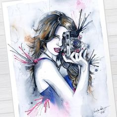 "WANT A SHOUTOUT ?   CLICK LINK IN MY PROFILE !!!    Tag  #DRKYSELA   Repost from @veronikanetodesigns   My ""Perfect Shot"" watercolor painting is now available as #artprint in my shop. -> society6.com/veronikaneto  #watercolor #акварель #painting #illustration #photographer #shooting #canon #teamcanon #camera #lens #art by #veronikanetodesigns via http://instagram.com/ladyterezie"