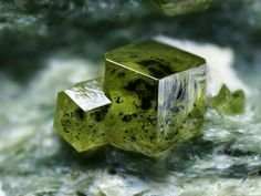 Andradite GARNET (Var Demantoid) from Malenco Valley, Sondrio Province, Lombardy, Italy. FOV 4.0mm.  Photo by Yaiba Sakaguchi