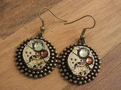a pair of earings for a friend of mine by kupferdach production