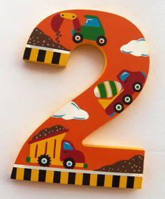 Personalizado pintado decorativo madera número con un tema de