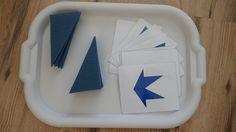 Skladanie trojuholnikov podla predlohy - geometria