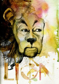 amazing wizard of oz cowardly lion by Michael Scott Design