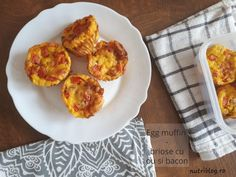 Egg muffin - brioșe cu ou și bacon - Powered by Bacon, Muffin, Keto, Eggs, Breakfast, Recipes, Morning Coffee, Egg, Muffins