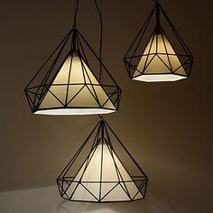 Diamond/Mini Pendant Lamp/1 Light/Modern Simplicity/Black & White/Finished/Carbon Steel/Cloth/Droplight 2016 - $87.99