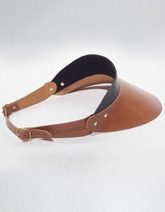 Larissa HAdjio - Leather Sun Visor - £188 #leather #visor