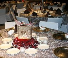 Chocolate Table Ivory Overlay Red Center