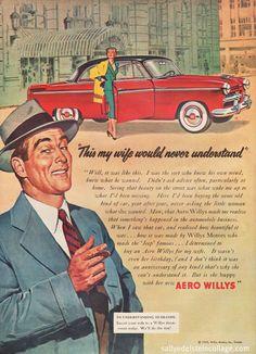 Aero Willys Car Ad 1953   by Retroarama