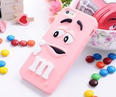 For iphone 6 cases M&M's chocolate candy rubber soft silicone cartoon cell phone case covers for iphone6 4.7inch case cover