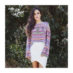 Mais uma estampa que ganhou nosso coração! A saia assimétrica {tem que ter} já virou a peça coringa favorita da coleção... ✨  #fashion #moda #love #itgirl #NomadSoul  #lojabySiS www.lojabysis.com.br