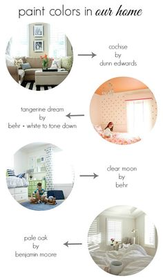 Paint Colors in Our Home - A Thoughtful Place