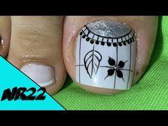 Toe Nail Art, Toe Nails, Toenail Art Designs, Semi Permanente, Minimalist Nails, Pedicure, Lily, Tattoos, Youtube
