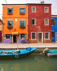 Burano Island in Venice Italy  by onthere