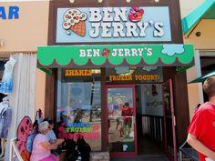 Ben & Jerry's on Hollywood Beach, Florida boardwalk.