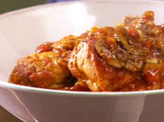 Chicken Cacciatore recipe from Anne Burrell via Food Network Chef Recipes, Turkey Recipes, Food Network Recipes, Italian Recipes, Chicken Recipes, Cooking Recipes, Turkey Dishes, Italian Dishes, Veal Recipes