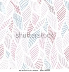 Seamless background pattern with abstract feathers. Vector illuctration. - stock vector